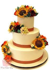 Sunflower Wedding Cake Fall Cakes