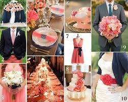 Coral Color Decorations For Wedding by Navy Blue And Grey Wedding Color Navy And Coral Wedding