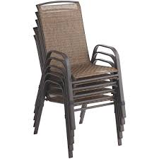 Stacking Steel Sling Patio Chair by Outdoor Expressions Greenville Stack Chair Tjf T014 Do It Best