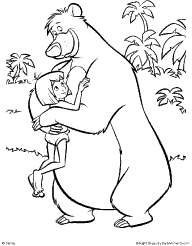 Brilliant Ideas Of Jungle Book Coloring Pages To Print On Cover