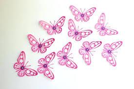 Butterflies Wall Decor Collection Of Pink Butterfly Art Ideas Paper Inside Decors
