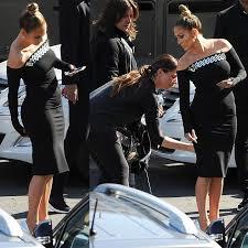 Jennifer Lopez Has Wardrobe Malfunction in Zip Dress and Casadei Heels