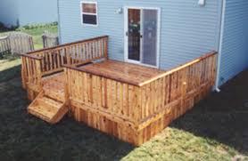 Menards Cedar Deck Boards by 14 U0027 X 14 U0027 Deck With Solid Apron Building Plans Only At Menards