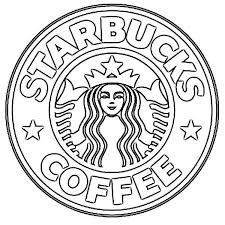 Sketch Of Logo Starbucks Coffee Drawing
