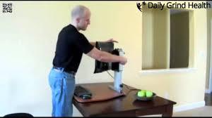 Kangaroo Standing Desk Dual Monitor by Ergo Desktop Kangaroo Pro Standing Desk Converter Review Youtube