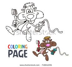 Mouse Cartoon Coloring Page