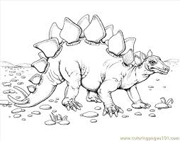 Dinosaur 7 Coloring Page Free Other Pages