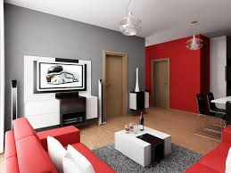 Stylish White Table And Red Sectional Sofa Inside Living Area Apartment Decorating Ideas With Carpet Rug