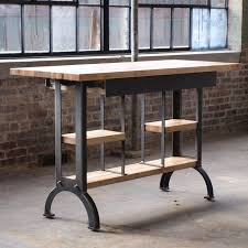 Buy A Custom Maple Modern Industrial Kitchen Island Console Table Made To Order From Camposironworks