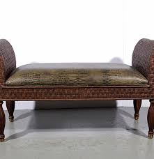 Ethan Allen Chippendale Wingback Chair by Ethan Allen Scroll Arm Window Bench Ebth