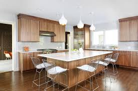 mid century kitchen with ceramic backsplash tile kitchen