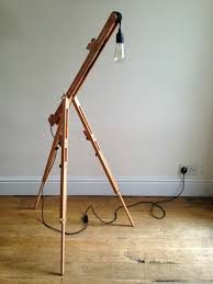Pottery Barn Floor Lamps Ebay by Easel Lamp Wooden New U0026 Floor Standing Tripod Design Dimmer