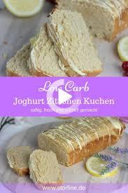 zuckerfreier kuchen zitronen kuchen low carb kuchen