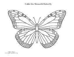 Monarch Butterfly Coloring Pages Color Page Caterpillar M