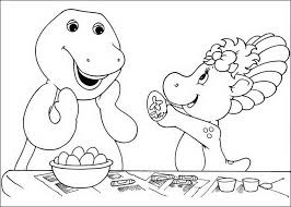 Coloring Pages Picture Free Barney And Friends 705226 For 2015