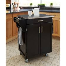 Alluring Home Styles Kitchen Cart Black Stainless Steel Top