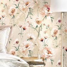 okzident pastoralen blumen muster 3d vlies tapete grau farbe wohnzimmer schlafzimmer hintergrund wand papier dekoration