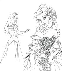 Disney Princess Coloring Sheets Free To Print Pages Online Printable Kids Peach