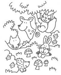 Woodland Animals Coloring Pages With Regard To