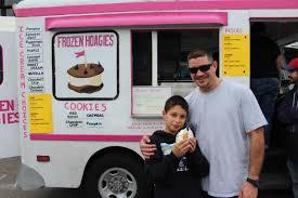 100 Boston Food Truck Festival Enjoying A Cookie Sandwich From Frozen Hoagies At The Suffolk Downs