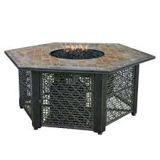 outdoor gas pits slate tile hexagon propane gas pit in