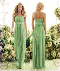 80 off stylish empire strapless green bridesmaid dresses ruffles