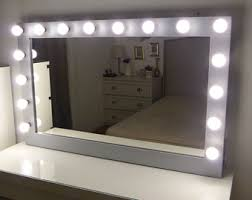 Makeup Vanity Table With Lights Ikea by Vanity Mirror Etsy