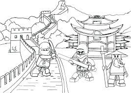 Coloring Pages Of Ninjago Dragon Home