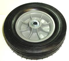 Hand Truck Tire With Offset Hub Semi Pneumatic 10