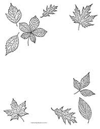 Fall Leaves Clipart Black And White Border · Fall Leaves