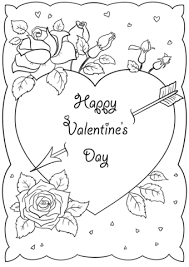Happy Valentines Day Card Coloring Page