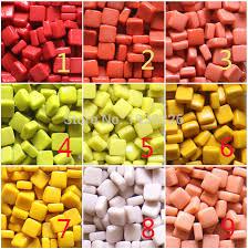 diy mosaic particles 200g square mosaic tiles 27 colors glass