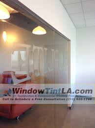 Solyx Decorative Window Films by Solyx Dusted Crystal Custom Logo For Conference Room Window Tint