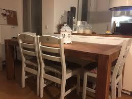 4 küchen esszimmer wohnzimmer stühle holz weiß shabby chic design