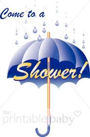 Boy Babyshower Umbrella Clipart