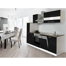 respekta küchenzeile kb250wsc 250 cm schwarz weiß