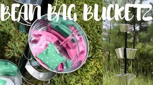 DIY BEAN BAG BUCKET TOSS GAME