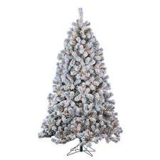 Pre Lit Flocked Christmas Tree by Flocked Frosted Artificial Christmas Trees Christmas Trees