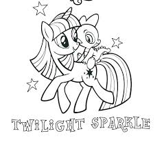 Twilight Sparkle Coloring Pages My Little Pony And Friends Girls