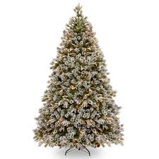 8ft Pre Lit Liberty Pine Decorated Feel Real Artificial Christmas Tree