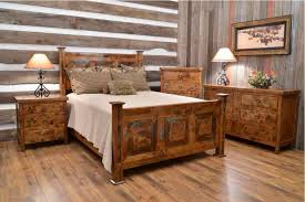 Bedroom Rustic Chic Furniture Source Cheap Sets Clear Lacquer Iron Wood Bed