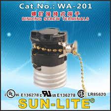 Sun Lite Lamp Holder by Sun Lite Wa 201 Socket Pull Chain Switch Light Lamp Brass 660w