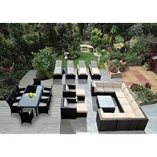 Outdoor Sectional Sofa Set amazon com genuine ohana outdoor sectional sofa dining and
