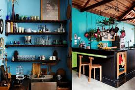 Bohemian Black And Turquoise Kitchens