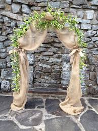 I Have A Lighted Arch Could Add Burlap Tie Backs White Blush Flower