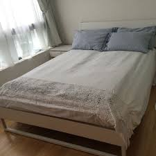 trysil bed frame ikea home furniture on carousell