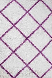 shaggy teppich rauten design creme lila modern vimoda homestyle