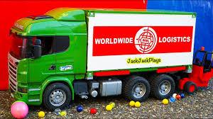 100 Toy Big Trucks Tractor Trailer Hauling Load Surprise Box Jack Jacks