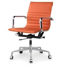 Meelano fice Chair In Vegan Leather Orange AptDeco