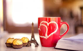 Love Light Laughter And Chocolate by Mood Mug Red Hearts Chocolate Candy Notebook Eiffel Tower Love